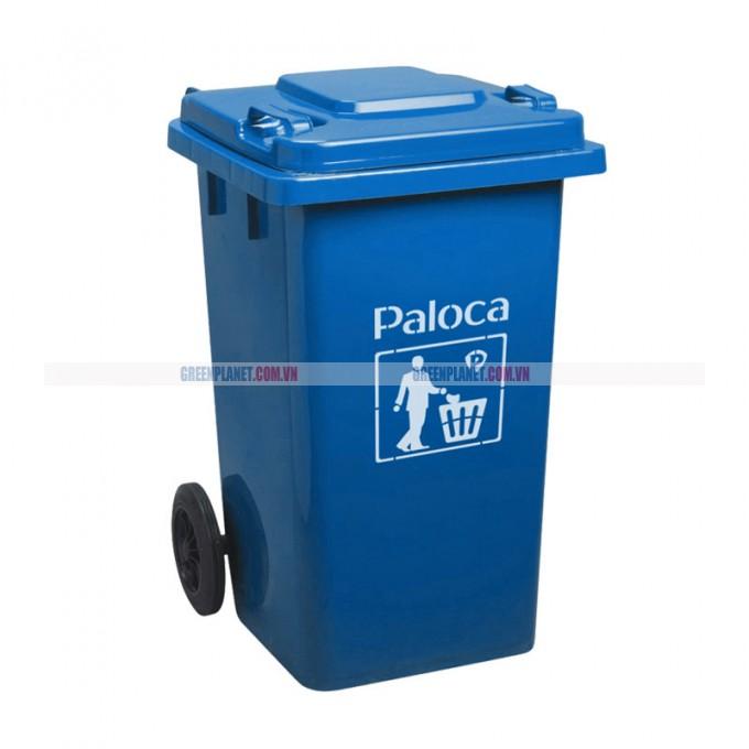 Thùng rác nhựa HPDE 240L màu xanh da trời