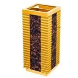 Thùng rác gỗ có khay gạt tàn thuốc lá