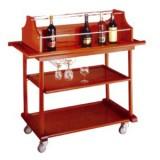 Xe đẩy phục vụ rượu 3 tầng bằng gỗ WY-11