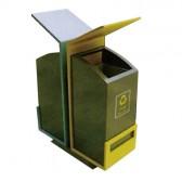 Thùng rác kim loại 2 ngăn giá rẻ