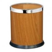 Thùng đựng rác tròn văn phòng giả gỗ cao cấp
