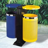 Thùng rác ngoài trời 2 ngăn phân loại rác thải