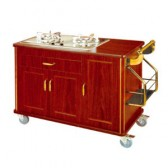 Tủ bếp ga bằng gỗ di động giá rẻ WY-90