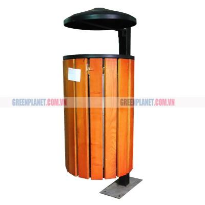 Thùng rác gỗ treo đơn nhập khẩu