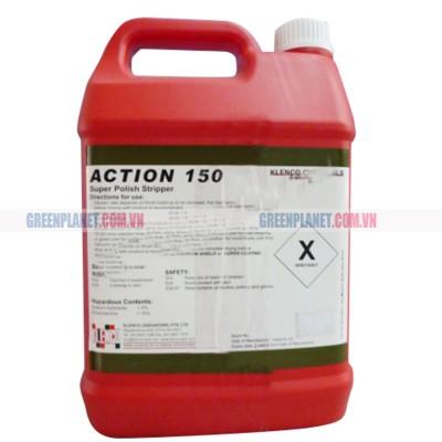 Hóa chất đánh tróc bóc lớp phủ sàn trước khi phủ bóng sàn đá gạch Action 150