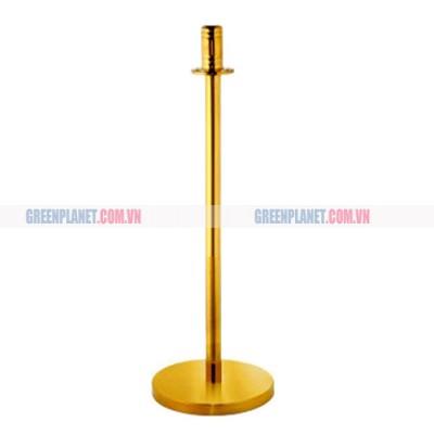 Cột chắn inox vàng đế đá G28-F