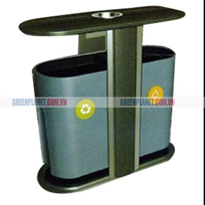 Thùng rác đôi thép phun sơn nhập khẩu TPG-C1012