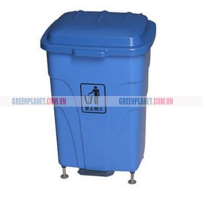Thùng rác nhựa HDPE 70L có đạp chân