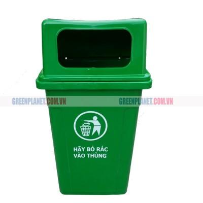 Thùng rác nhựa HDPE 90 lít nắp hở