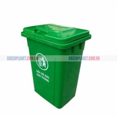 Thùng rác nhựa HDPE 90 lít nắp đậy