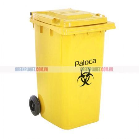 Thùng rác nhựa công nghiệp nắp lật có bánh xe