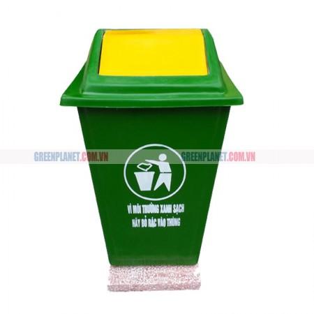 Thùng rác composite đế đá 60 lít