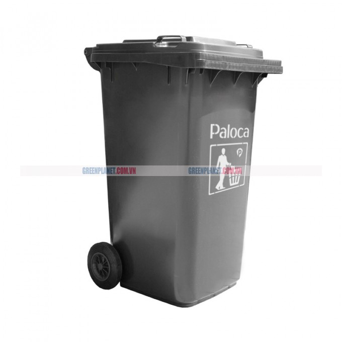 Thùng rác nhựa HPDE 240L màu ghi