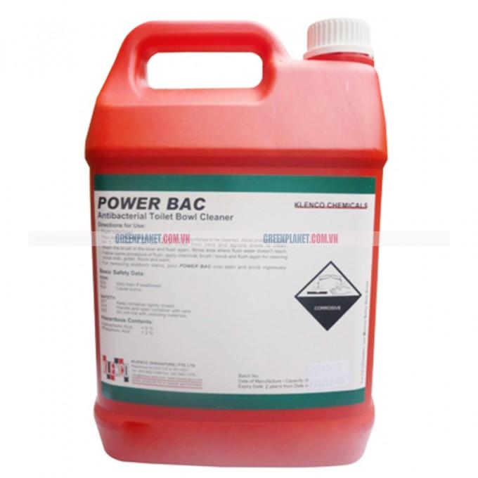 Hóa chất tẩy rửa làm sạch nhà vệ sinh Power Bac