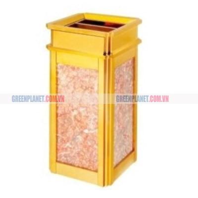 thùng rác đá hoa cương có gạt tàn thuốc lá
