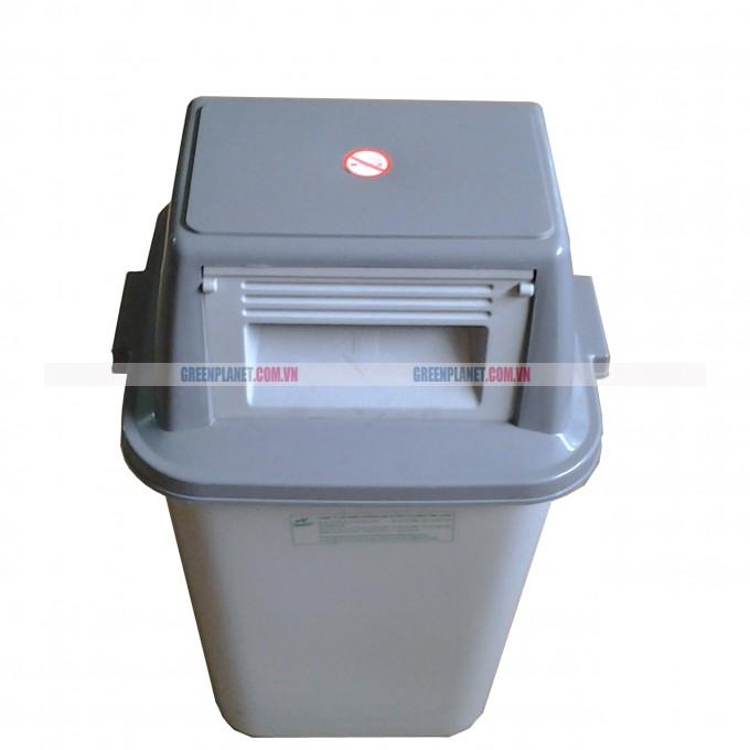 Thùng rác nhựa Duy Tân nắp đẩy 60L