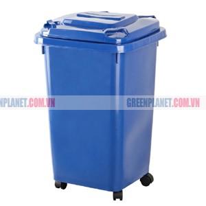 Thùng rác nhựa HDPE 50 lít ngoài trời