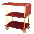 Xe đẩy phục vụ bàn bằng gỗ giá rẻ WY-62