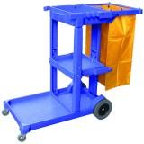 Xe đẩy dọn vệ sinh 3 tầng bằng nhựa