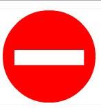 Biển cấm đi ngược chiều Ø 500 ( biển tròn)