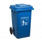 Thùng rác nhựa HDPE 240L màu xanh da trời