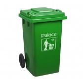 Thùng rác nhựa HPDE 240L màu xanh lá