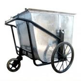 Xe thu gom rác bằng tôn 3 bánh
