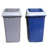 Thùng rác nhựa nắp lật 60L xanh da trời