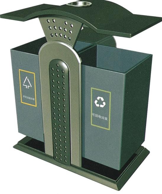 Thùng rác công cộng 2 ngăn nhập khẩu