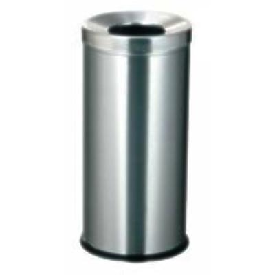Thùng rác inox tròn không có gạt tàn thuốclá