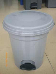 Thùng rác nhựa tròn bàn đạp chân có giỏ rác