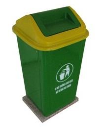Sự tiện dụng khi sử dụng sọt rác có nắp lật.