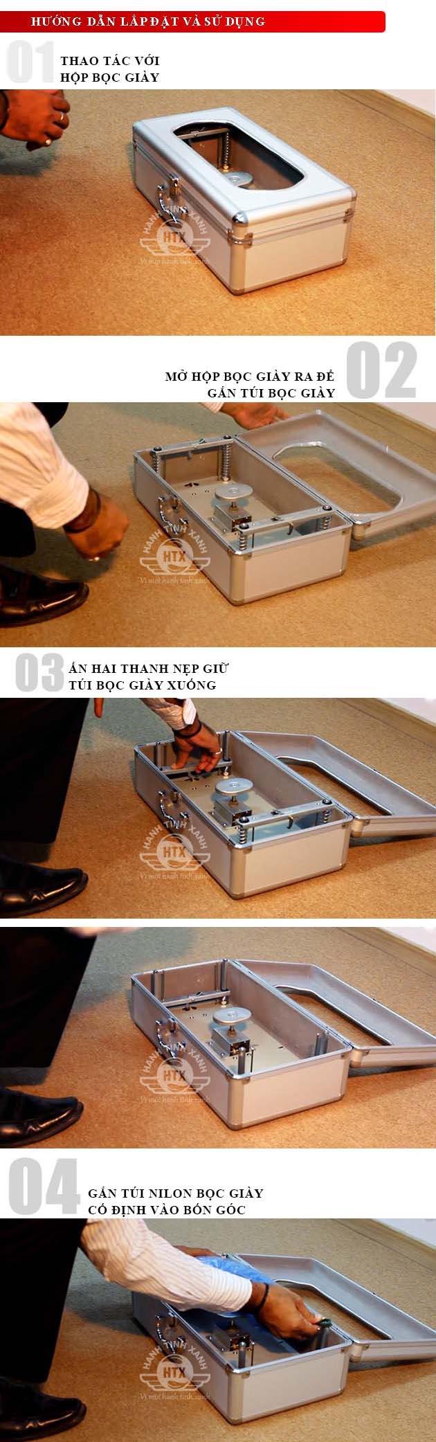 Sử dụng hộp bọc giày