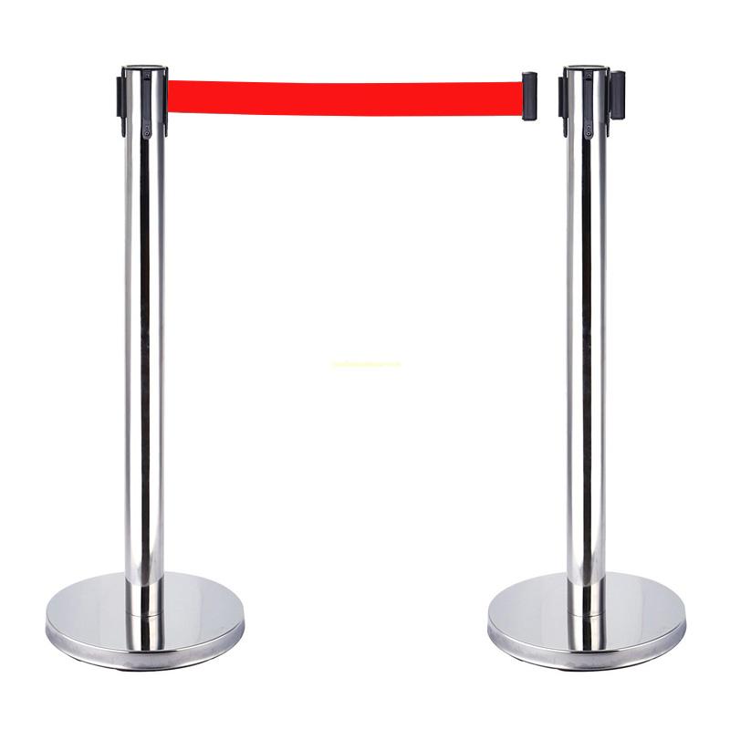 Cột chắn inox dây căng đỏ 5m