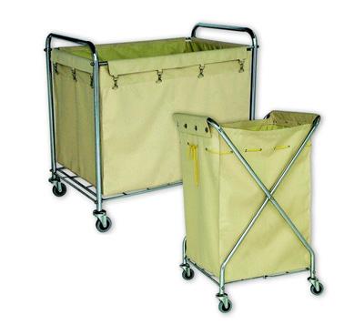 Xe chở đồ vải bẩn giặt là bằng inox