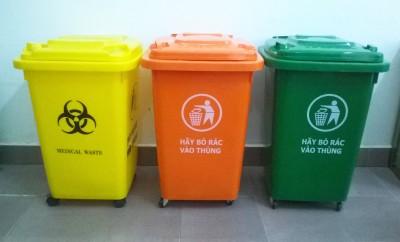 Thùng rác nhựa hdpe nắp kín