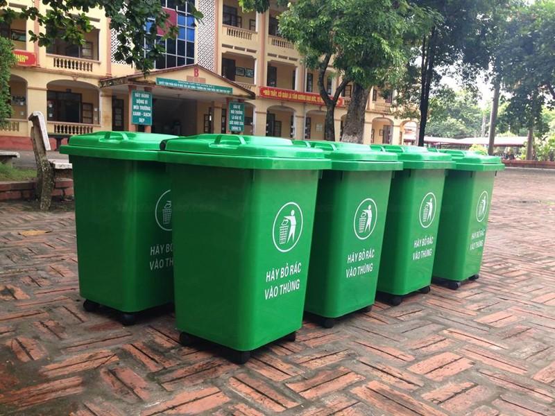 Thùng rác nhựa hdpe 60 lít, Báo giá thùng rác hdpe 60l