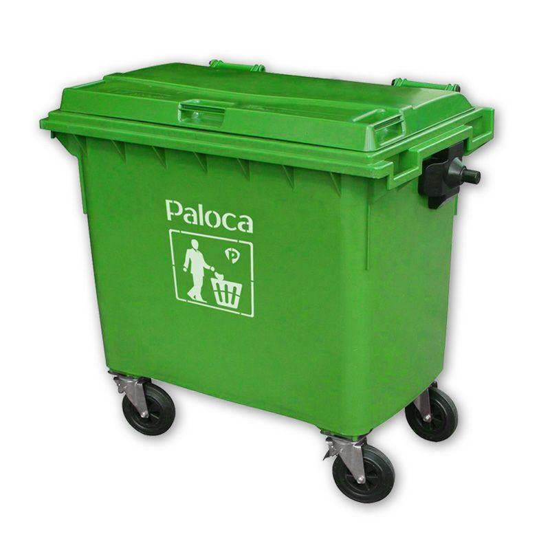 Thùng rác nhựa hdpe 660l