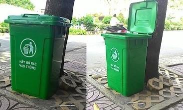 thùng rác nhựa hdpe 90 lít