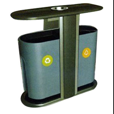 Thùng rác đôi thép phun sơn nhập khẩu PG-C1012