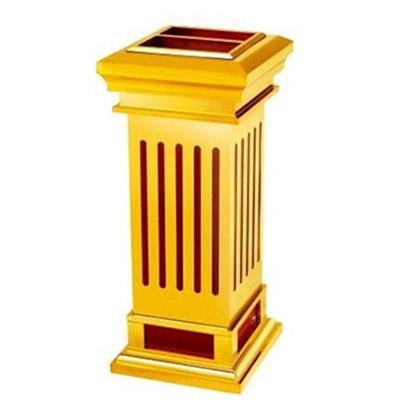 thùng đựng rác bằng gỗ