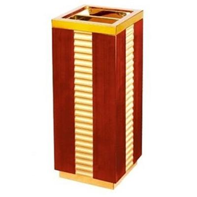 thùng rác gỗ có khay gạt tàn