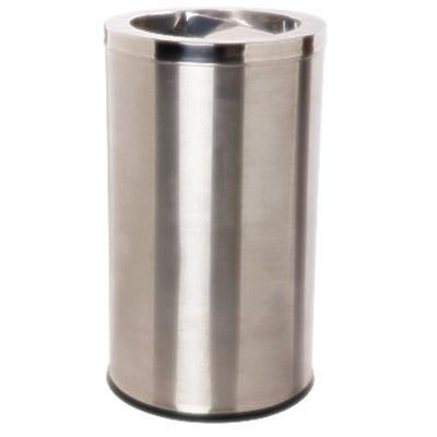 Thùng rác inox tròn công cộng có gạt tàn thuốc