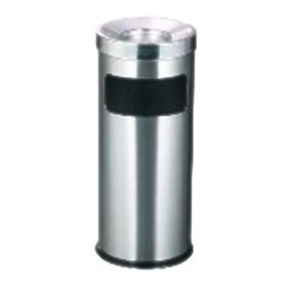 Thùng rác inox tròn có khay gạt tàn thuốc giá rẻ