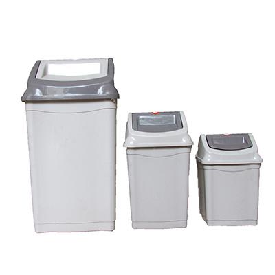 Thùng rác nhựa Plastic nắp lật SL 28L, màu sữa