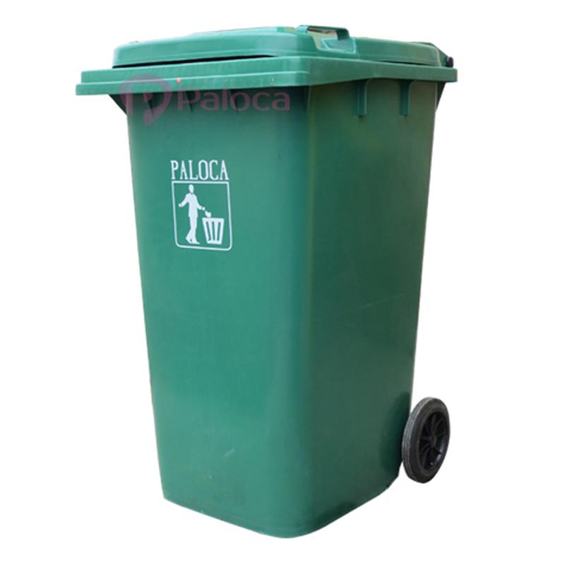 Thùng rác nhựa composite chống cháy nhập khẩu 240 lít